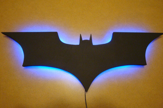batman wall light photo - 2