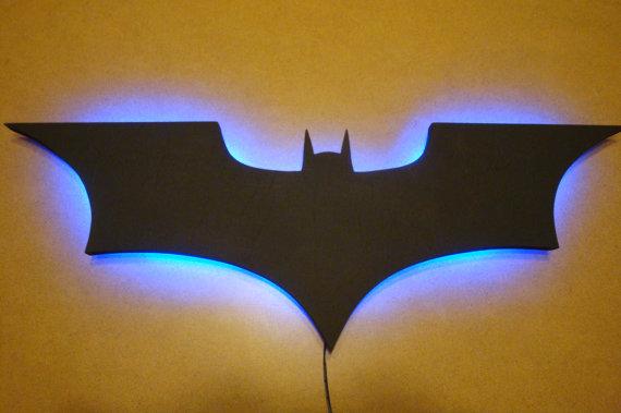 batman wall light photo - 2