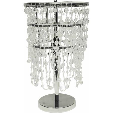 beaded table lamp photo - 2