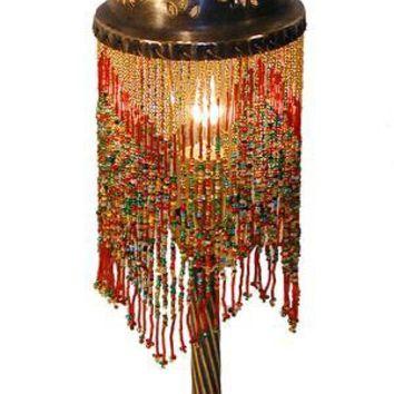 beaded table lamp photo - 6