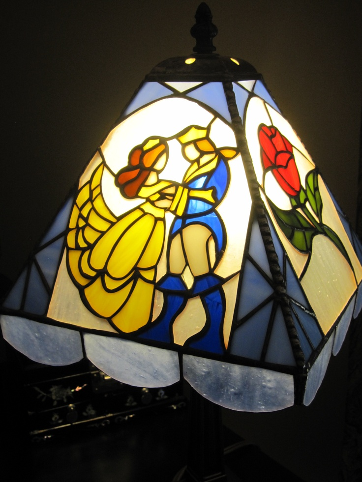 beauty and the beast lamp photo - 3