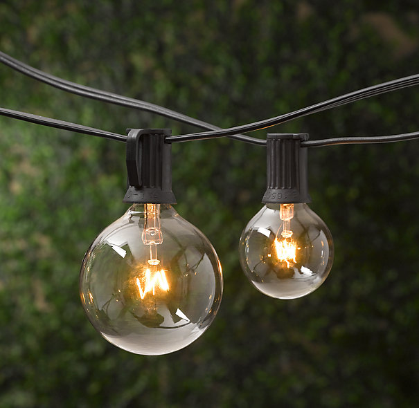big bulb outdoor string lights photo - 2