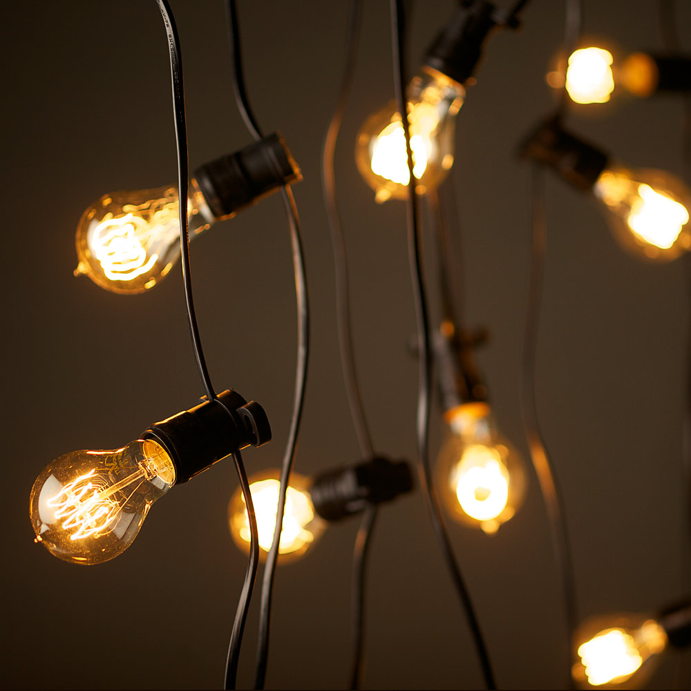 big bulb outdoor string lights photo - 6