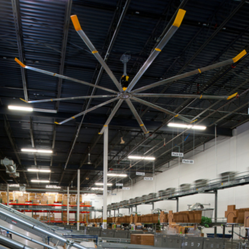 Big industrial ceiling fans Get comfy save money and