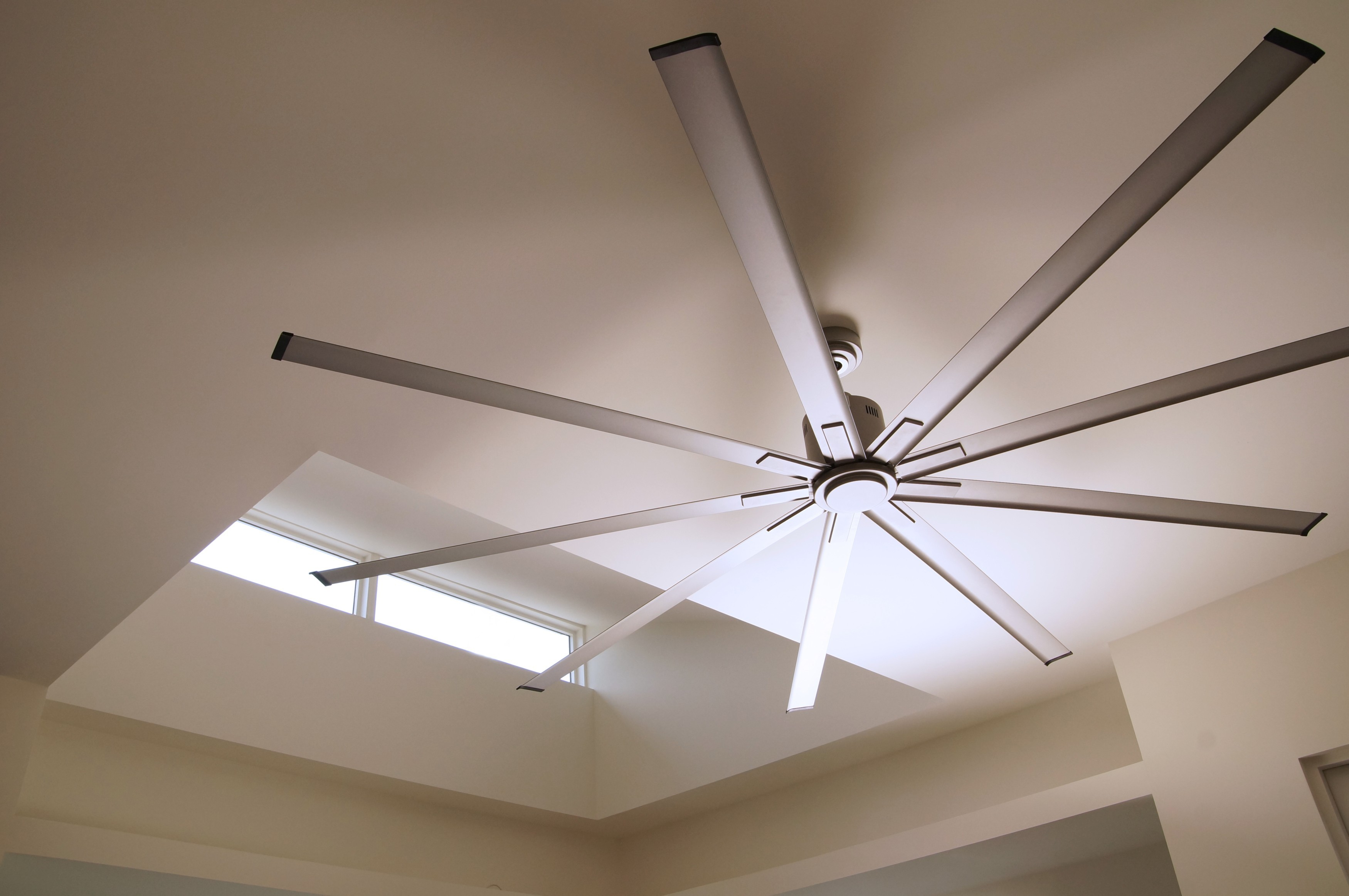 Large Industrial Fans : Big industrial ceiling fans get comfy save money and