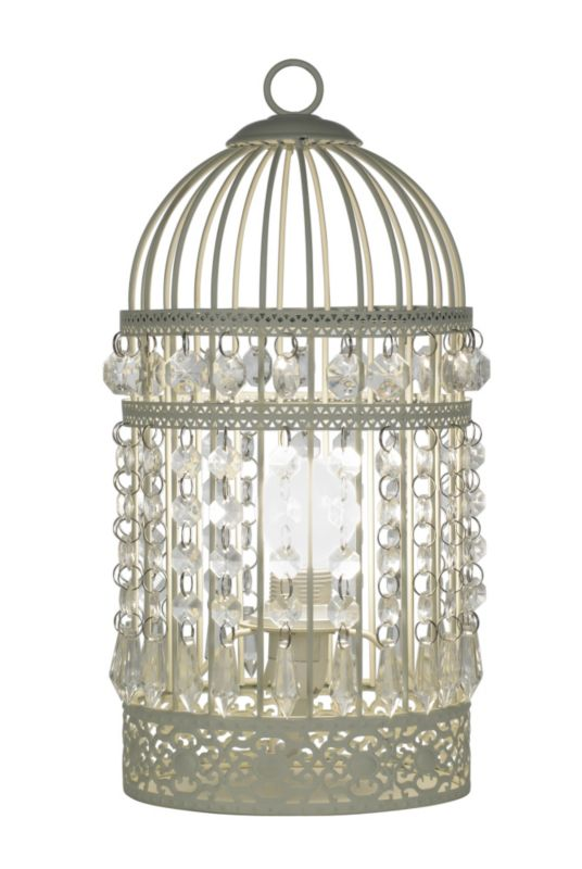bird cage table lamp photo - 10