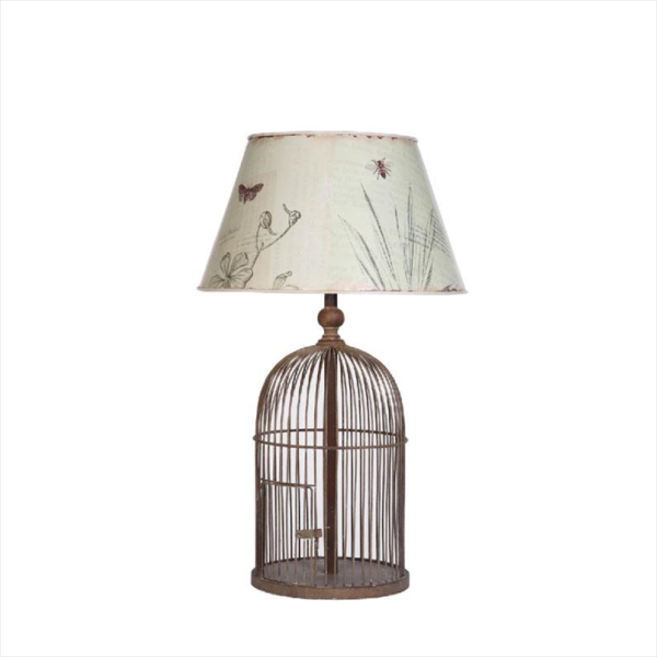 bird cage table lamp photo - 2