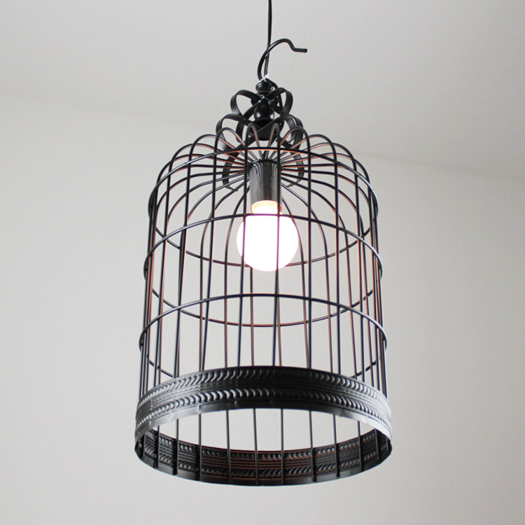 bird cage table lamp photo - 8