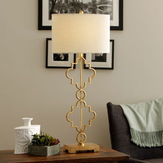 black and gold table lamp photo - 6