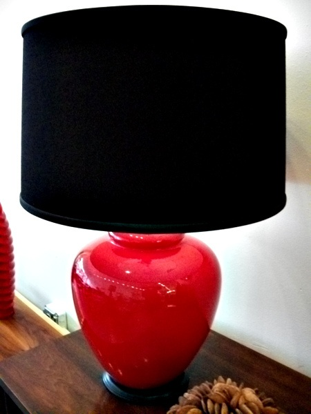 Your Room With Black And Red Lamps