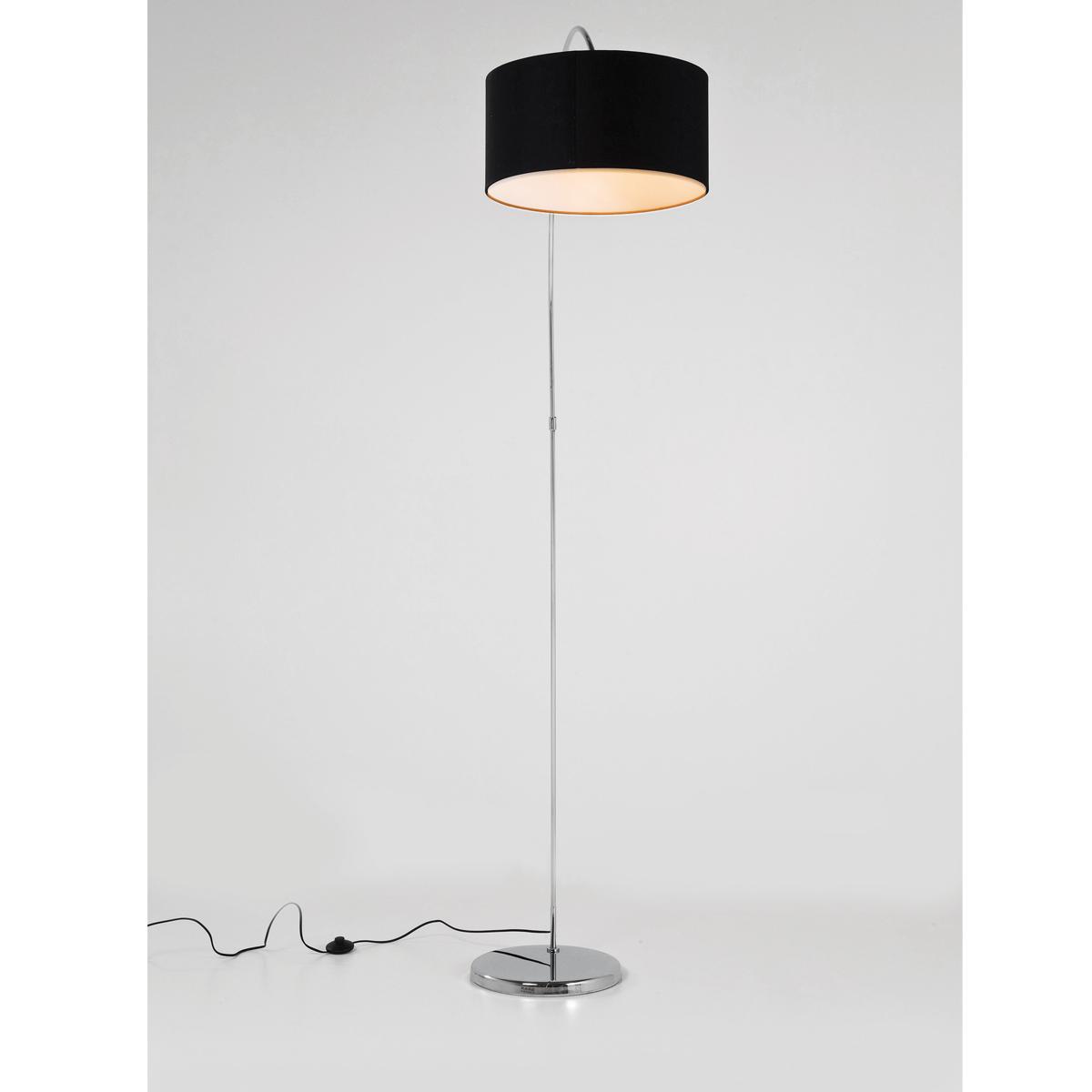 black arc floor lamp photo - 10