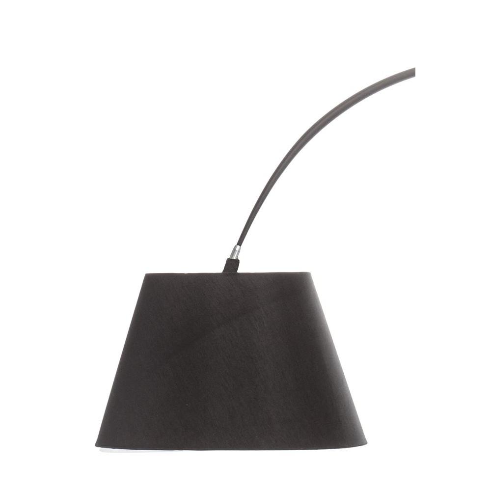 black arc floor lamp photo - 3