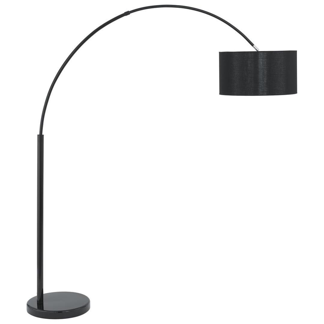 black arc floor lamp photo - 5