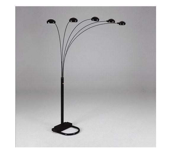 black arc floor lamp photo - 7