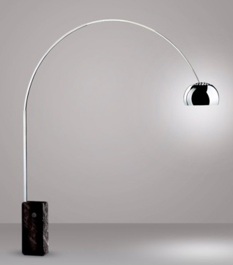 black arc floor lamp photo - 9