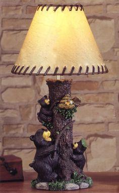 black bear lamps photo - 5