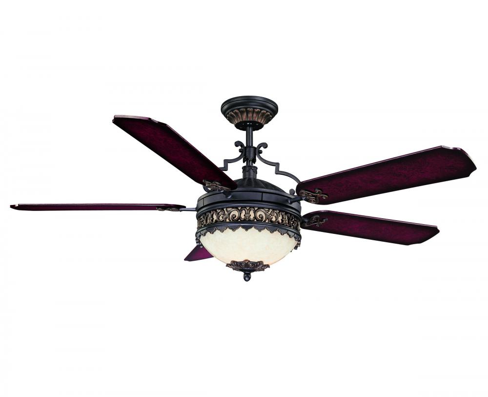 black ceiling fan light photo - 2