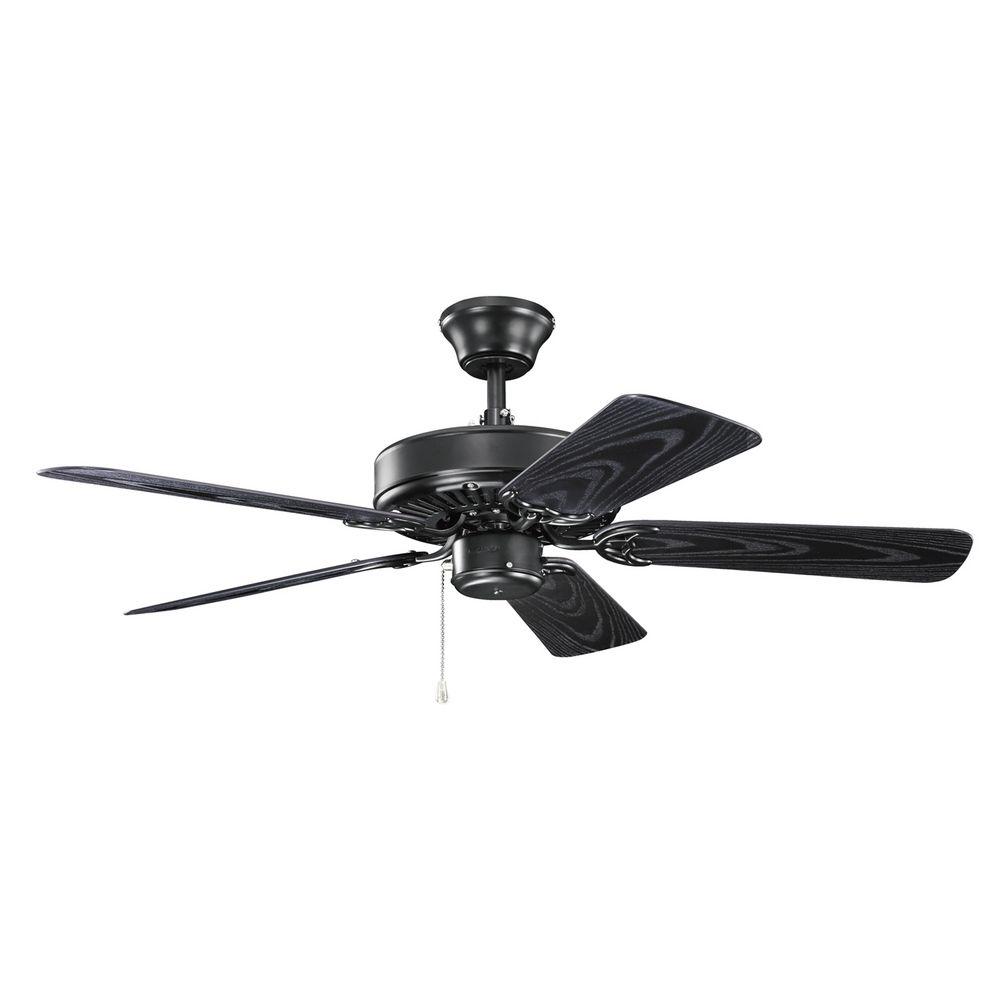black ceiling fan light photo - 4