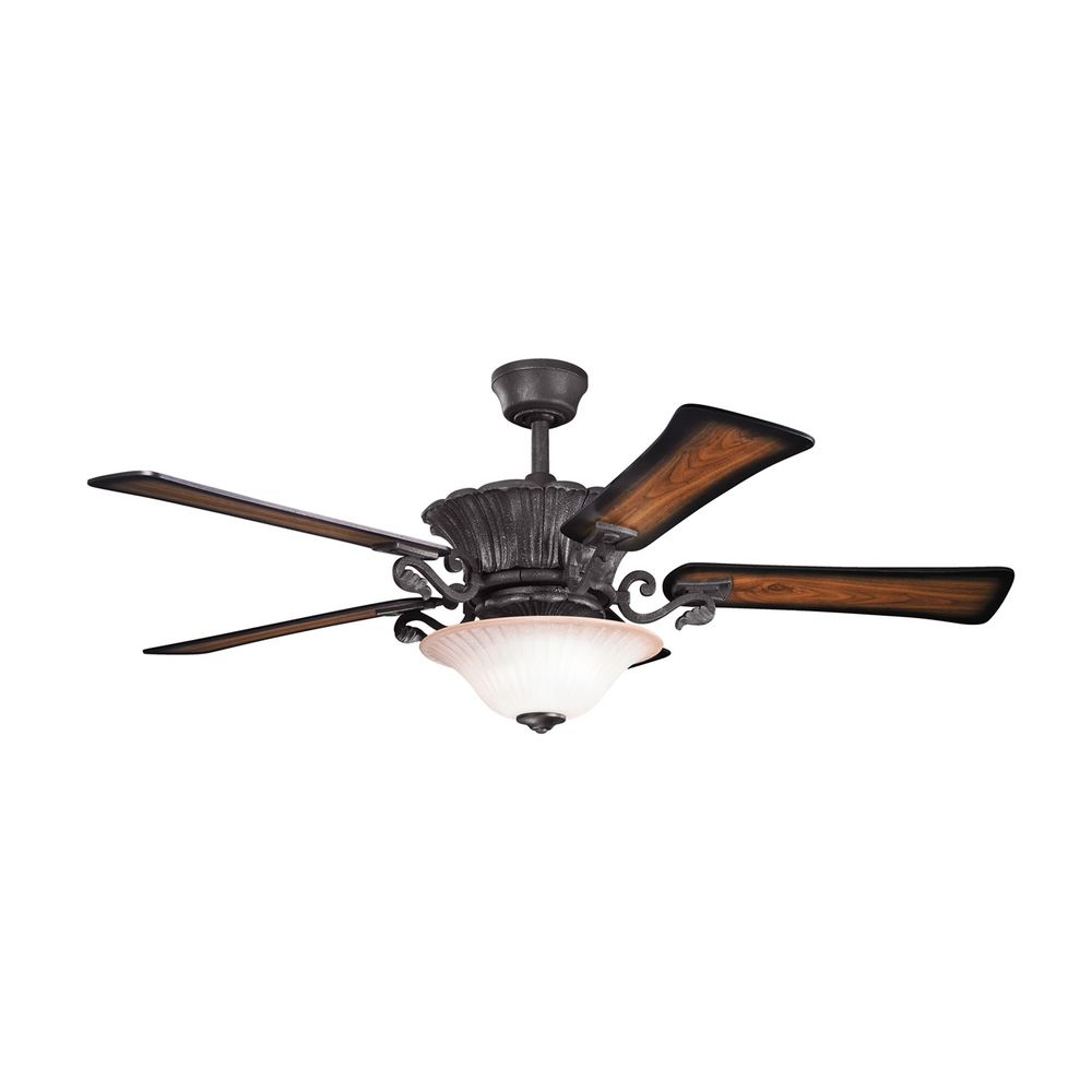 black ceiling fan light photo - 6