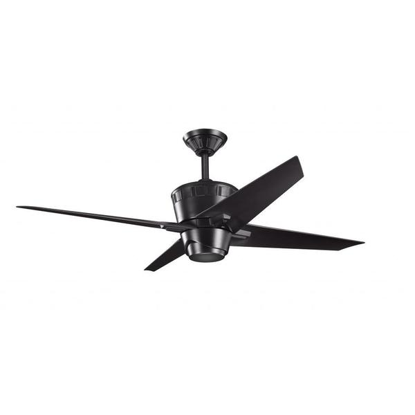 black ceiling fan light photo - 7