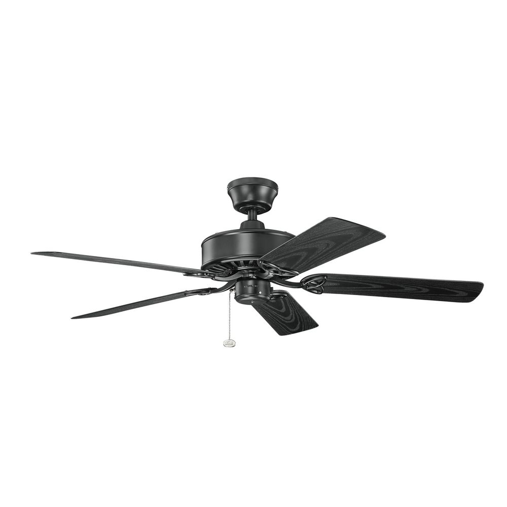 black ceiling fan light photo - 9
