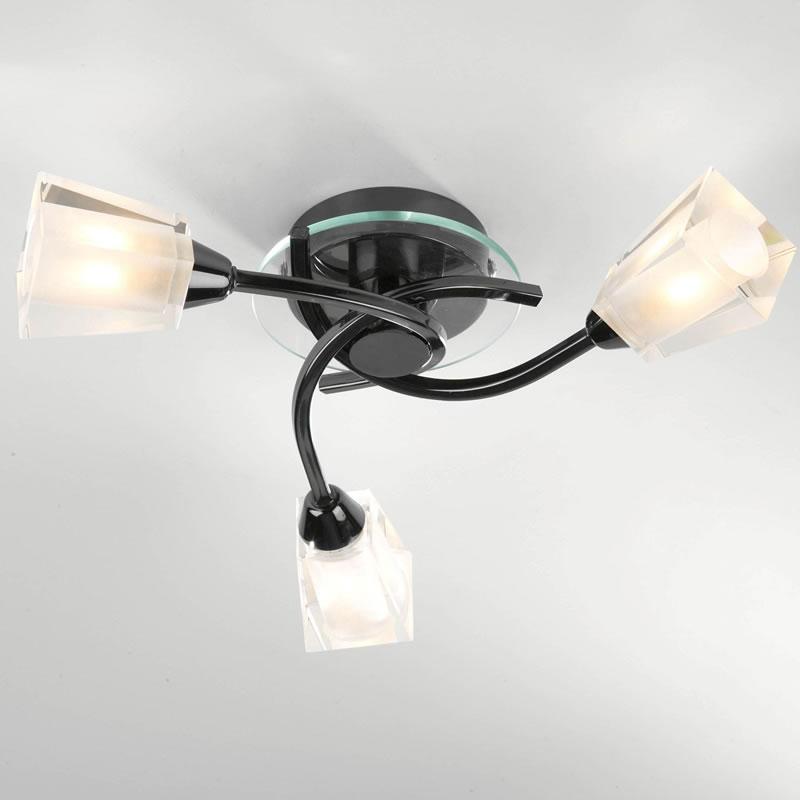 black ceiling lights modern photo - 1
