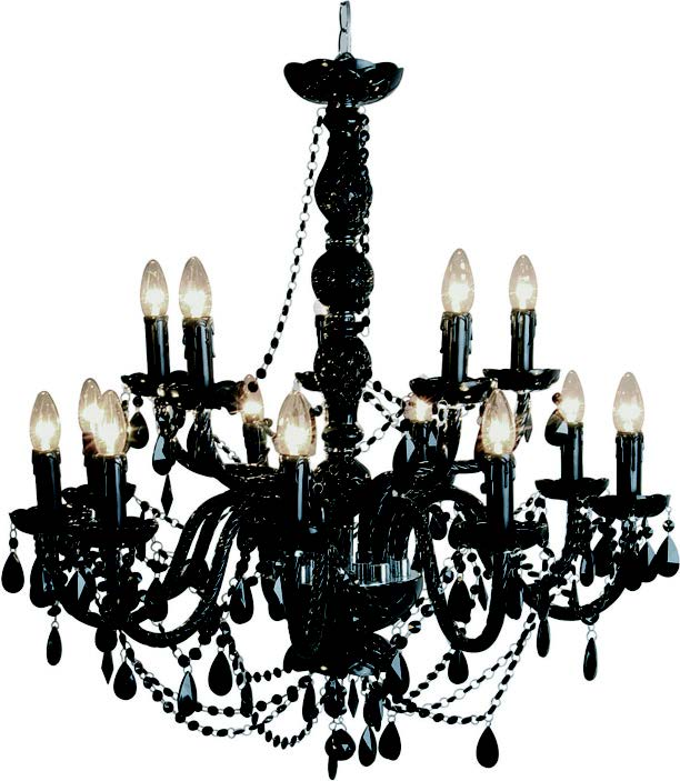 black chandelier table lamp photo - 7