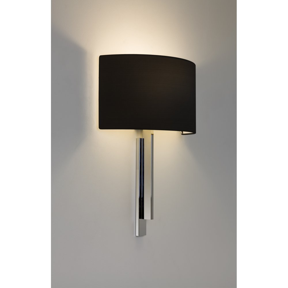 black chrome wall lights photo - 3