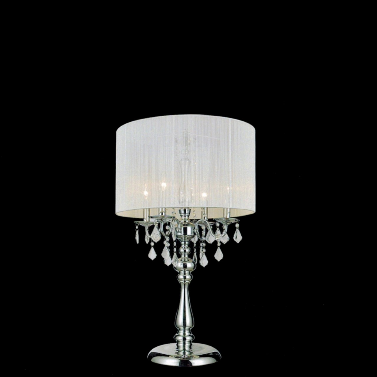 black crystal table lamp photo - 1