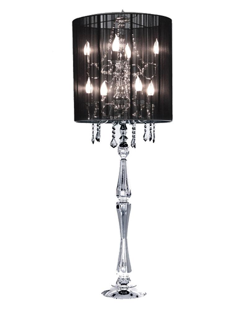 High Quality Black Crystal Table Lamp Photo   7