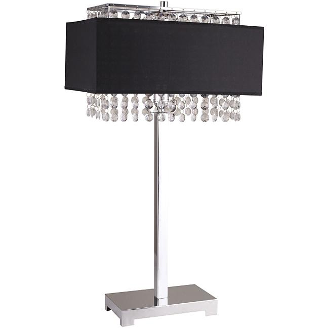 black crystal table lamp photo - 9