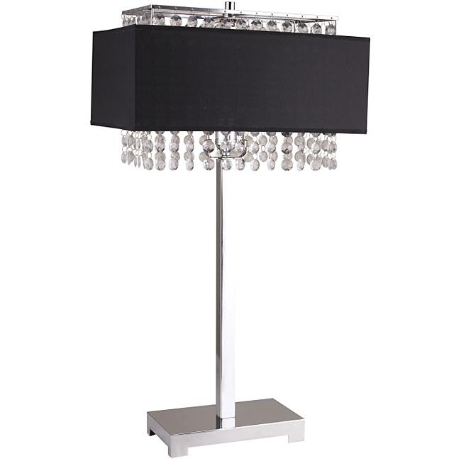 black crystal table lamp photo - 9