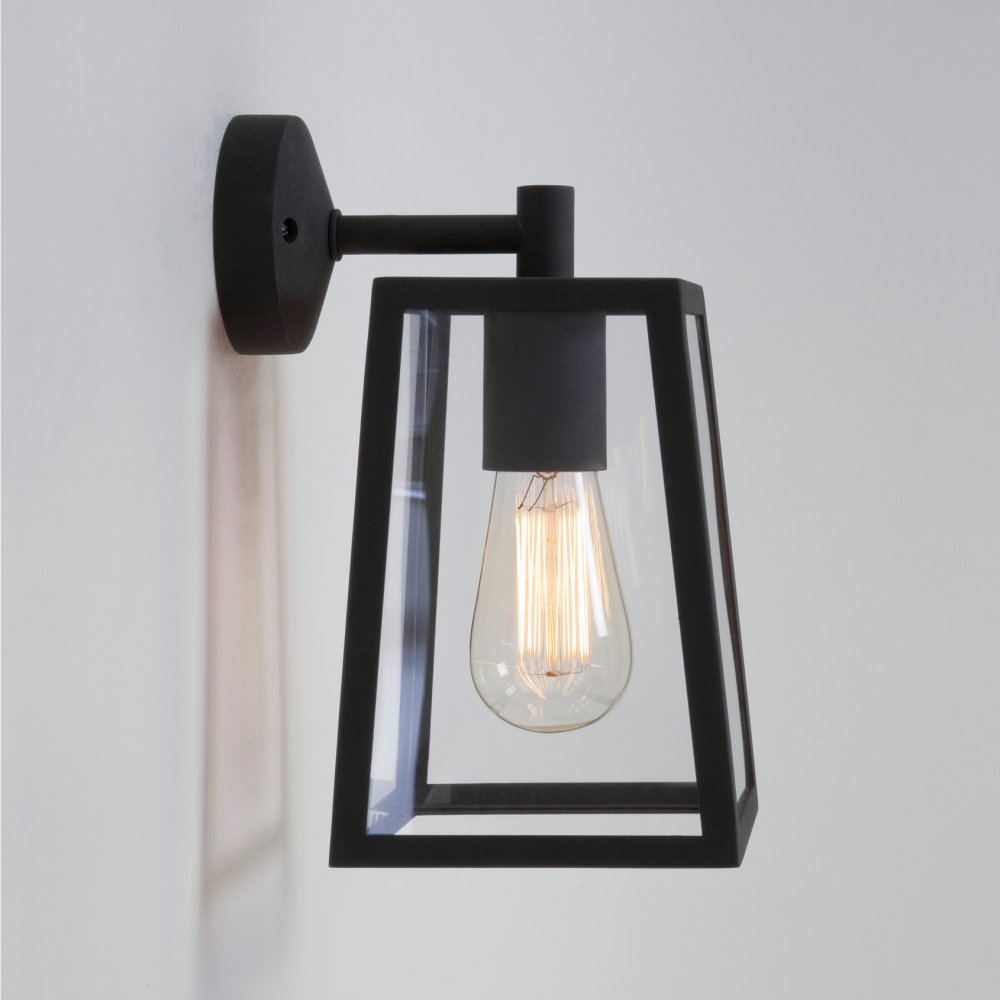 black outdoor wall lights photo - 1