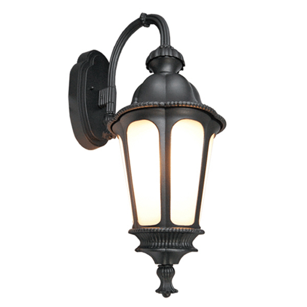 black outdoor wall lights photo - 7