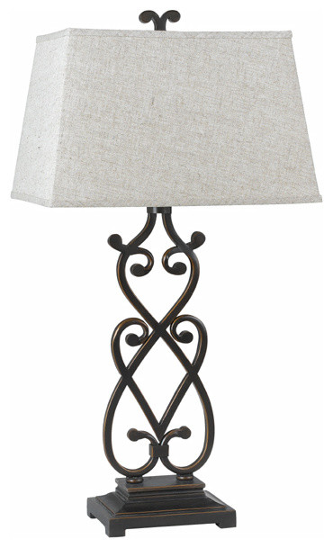 black wrought iron table lamps photo - 10