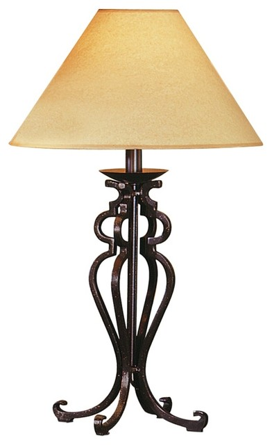 black wrought iron table lamps photo - 4