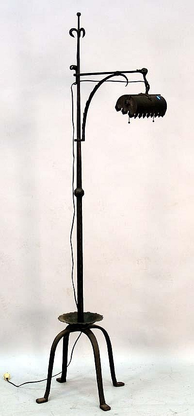 black wrought iron table lamps photo - 5