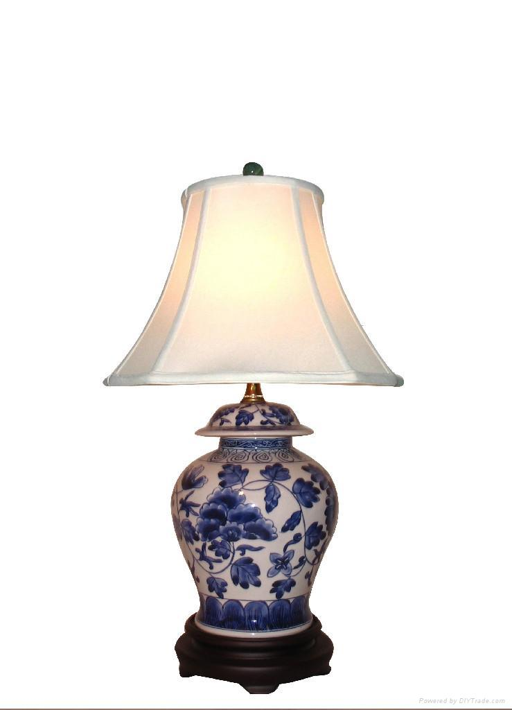 blue and white lamps photo - 7