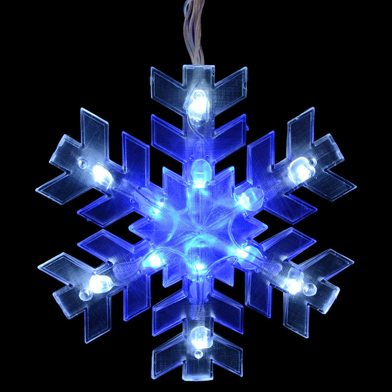 blue and white outdoor christmas lights photo - 10