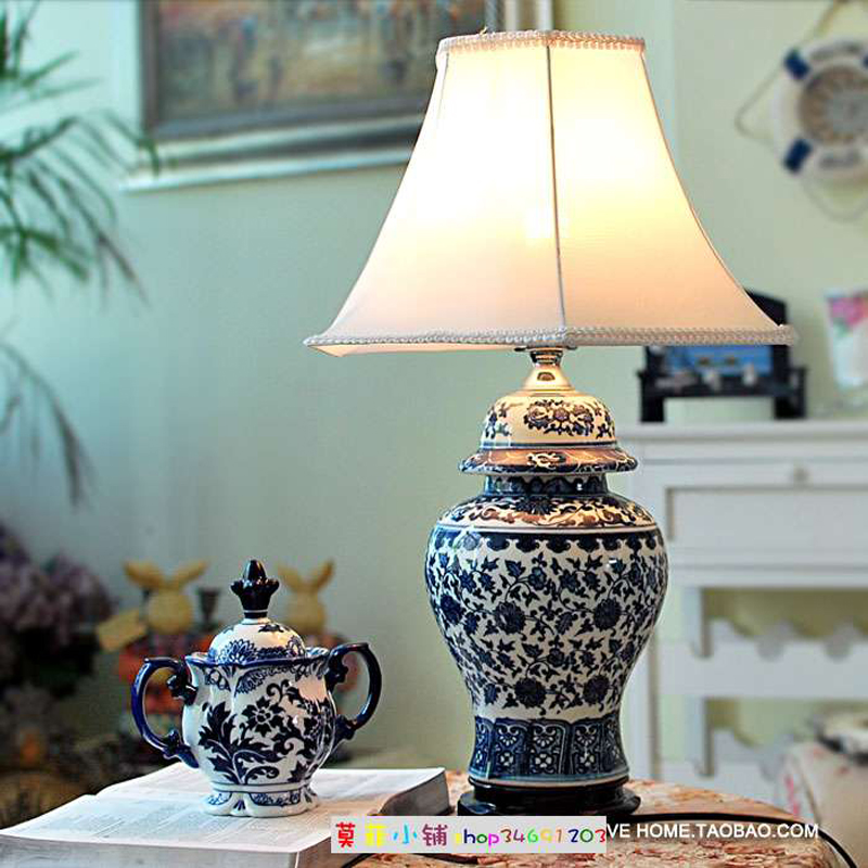 Blue And White Porcelain Lamp Warisan Lighting