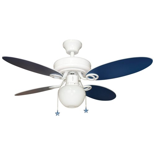 blue ceiling fans photo - 4