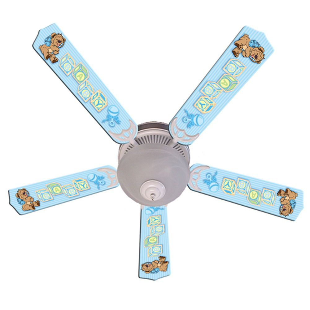 blue ceiling fans photo - 7