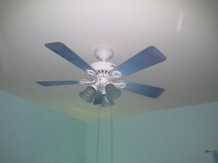 blue ceiling fans photo - 9