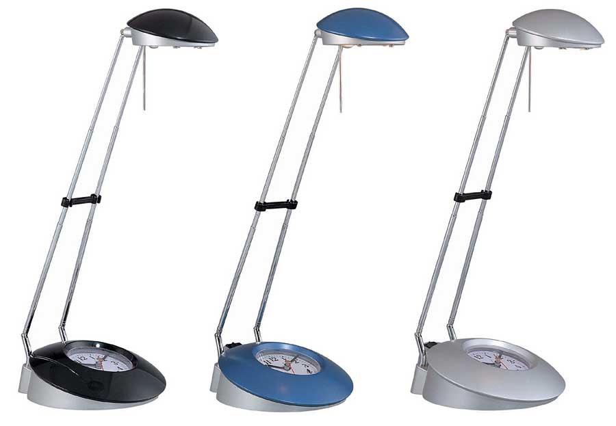 blue desk lamp photo - 2