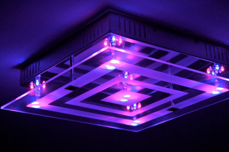 blue led ceiling lights photo - 10