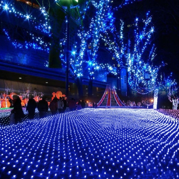 blue led ceiling lights photo - 4