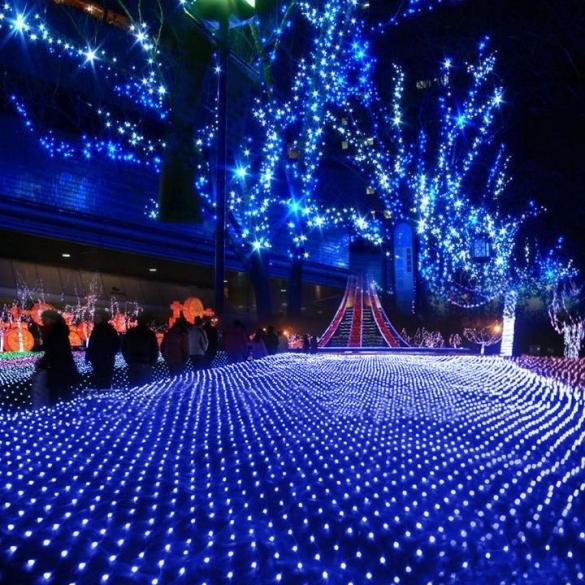 blue led ceiling lights photo - 4