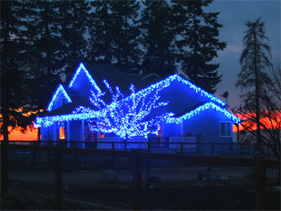 image gallery outdoor christmas lights blue