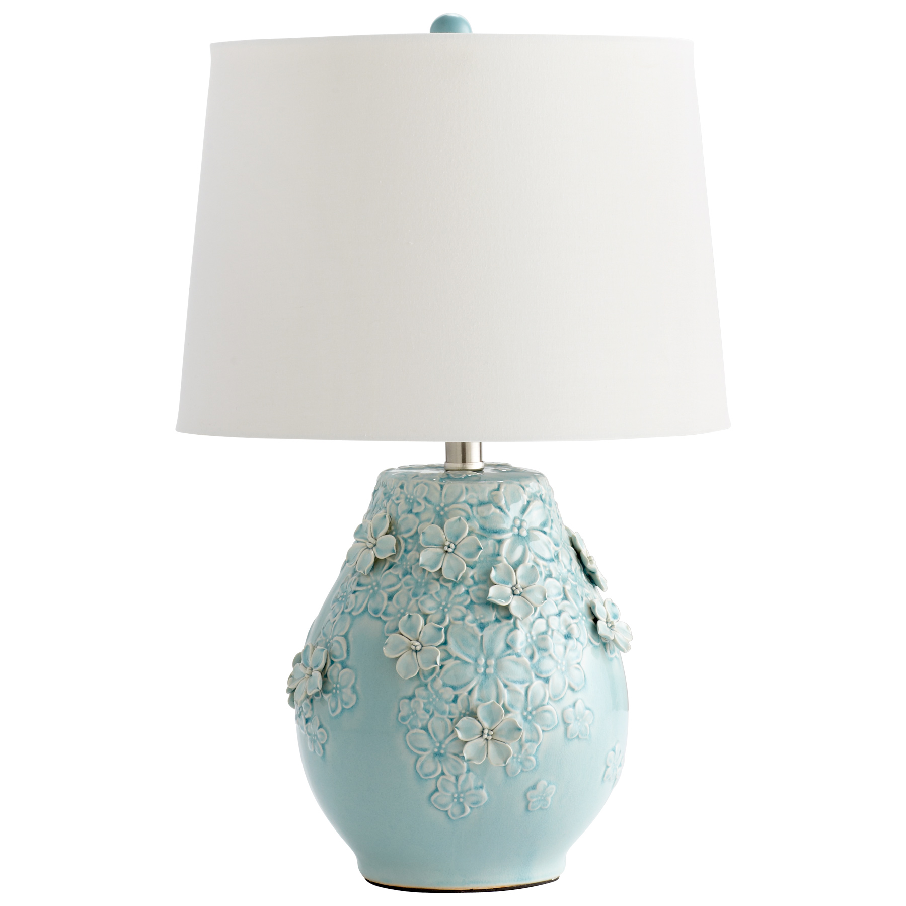 blue table lamps photo - 2