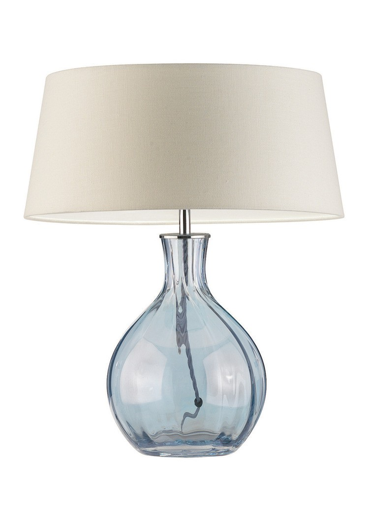 blue table lamps photo - 5